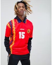 adidas originals retro spain soccer jersey in red ce2340