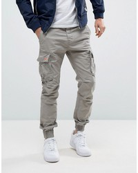superdry cargo pant with cuffed hem