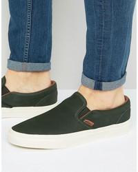 vans classic slip-on dx sneakers in green va2z5mm35