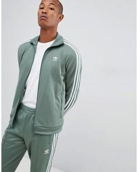 adidas originals beckenbauer track jacket in green dh5820