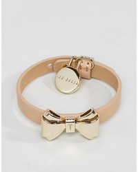 ted baker curved bow leather bracelet