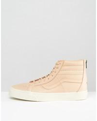 vans sk8-hi reissue zip dx sneakers in tan va349alui