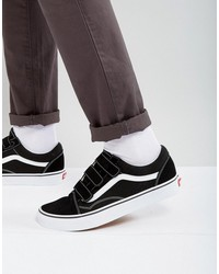 vans old skool velcro sneakers in black va3d29oiu