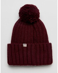 napapijri semiury beanie in burgundy