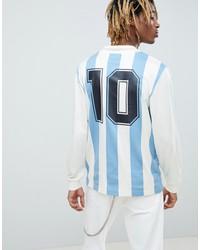 adidas originals retro argentina soccer jersey in blue ce2341