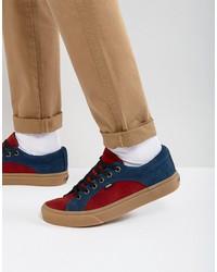 vans lampin suede sneakers in red va38fioin