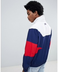tommy jeans 90s sailing capsule track jacket in navy/white/red
