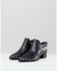 raid brandi black studded backless boots