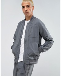 adidas originals nmd urban track bomber jacket in gray bs2515