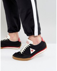 le coq sportif volley retro sneakers with gum sole in black 1720100