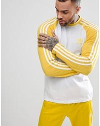 adidas originals adicolor longsleeve top in yellow cw1230