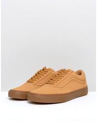 vans old skool gum sneakers in tan va38g1ots