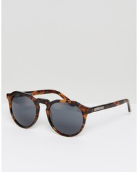 hawkers warwick polarised round sunglasses in tort