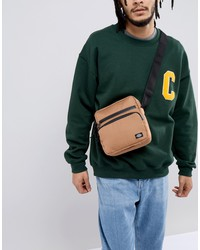 dickies gilmer cross body bag in brown duck