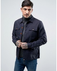 pretty green stamford overshirt jacket in navy