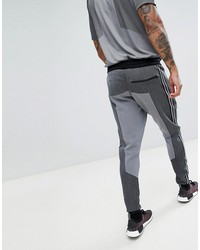 adidas originals plgn knitted joggers in skinny fit in black cw5112