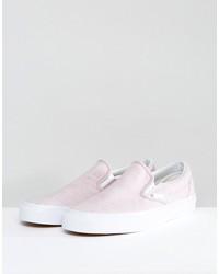 vans jersey slip-on sneakers in pink va38f7mt5