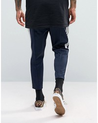 adidas originals sst relax cropped joggers in blue bk3631