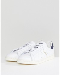 adidas originals stan smith vintage sneakers in white and navy