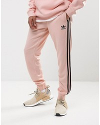 adidas originals superstar cuffed jogger in pink bs4656