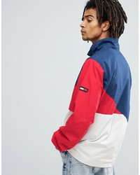 tommy jeans retro block overhead jacket icon red/white/blue