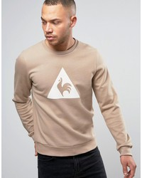 le coq sportif brown sweatshirt with large logo in brown 1711095