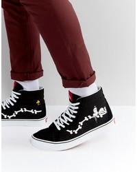 vans x peanuts sk8-hi sneakers in black va2xsbohl