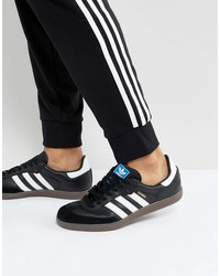 adidas originals samba sneakers in black bz0058