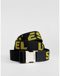 diesel webbing belt with logo