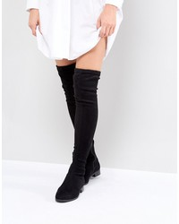 4a296a6a602 asos keep up wide leg flat over the knee boots