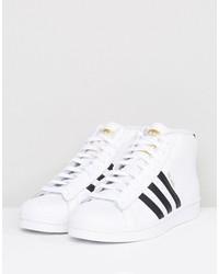 adidas originals pro model mid sneakers in white s85956