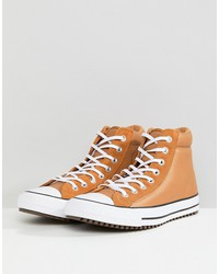 converse chuck taylor all star street sneaker boots in tan 157494c237