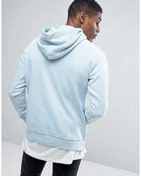 adidas originals trefoil logo pullover hoodie in blue bq5410