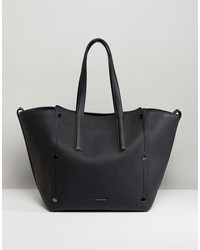 calvin klein large tote bag with tonal stud detail
