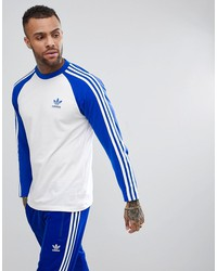 adidas originals adicolor longsleeve top in blue cw1229
