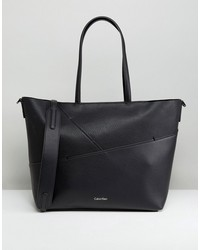 calvin klein medium tote bag with stitch detail