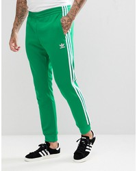 adidas originals adicolor superstar joggers in green cw1278