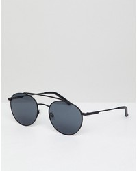 hawkers hills round sunglasses in black