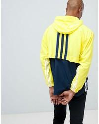 adidas originals authentic overhead windbreaker in yellow dh3842