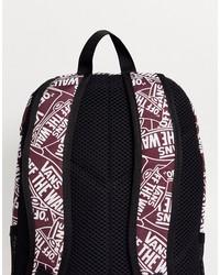 vans disorder backpack in burgundy