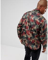 adidas originals x pharrell williams hu hiking half zip windbreaker in camo print cy7871