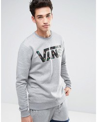 vans classic crew sweatshirt in gray v00yx0kyf