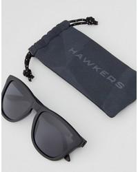 hawkers one polarised square sunglasses in black