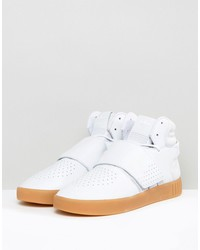 adidas originals tubular invader strap sneakers in white by3629