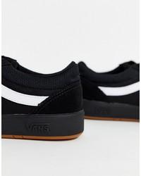 vans cruze cc sneakers in black/black