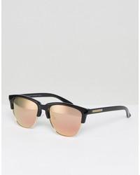 hawkers classic polarised retro sunglasses with rose gold lens