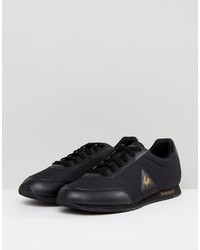 le coq sportif racrone nylon patent sneakers in black 1720264