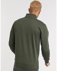 vans half zip fleece in green exclusive at asos