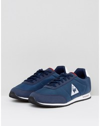 le coq sportif raceron nylon sneakers in navy 1711236