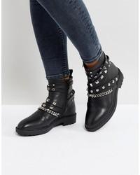 raid kacey black studded biker boots